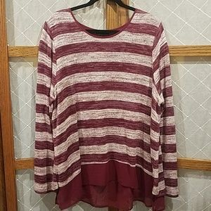 18/20 Lane Bryant Knit Tunic Striped